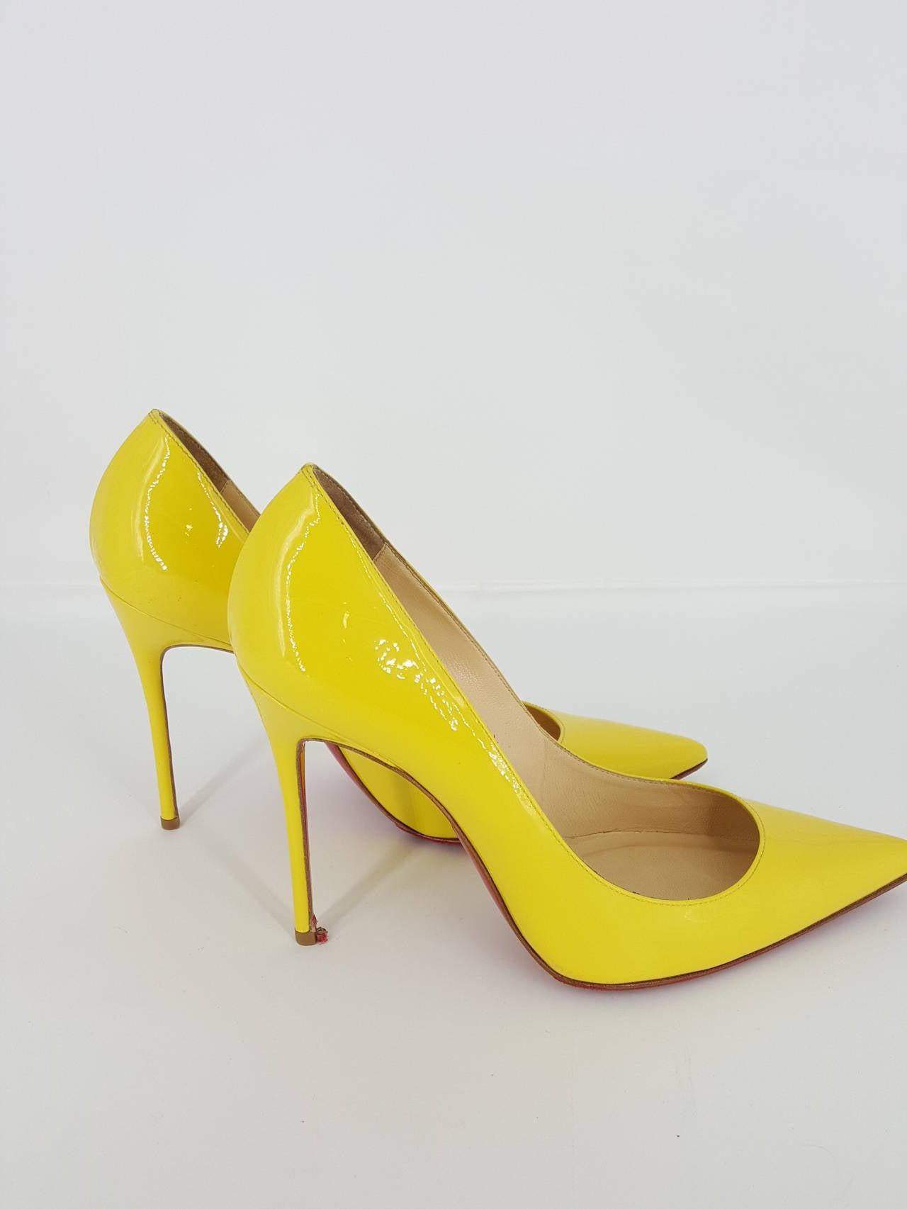 Bright Yellow High Heels