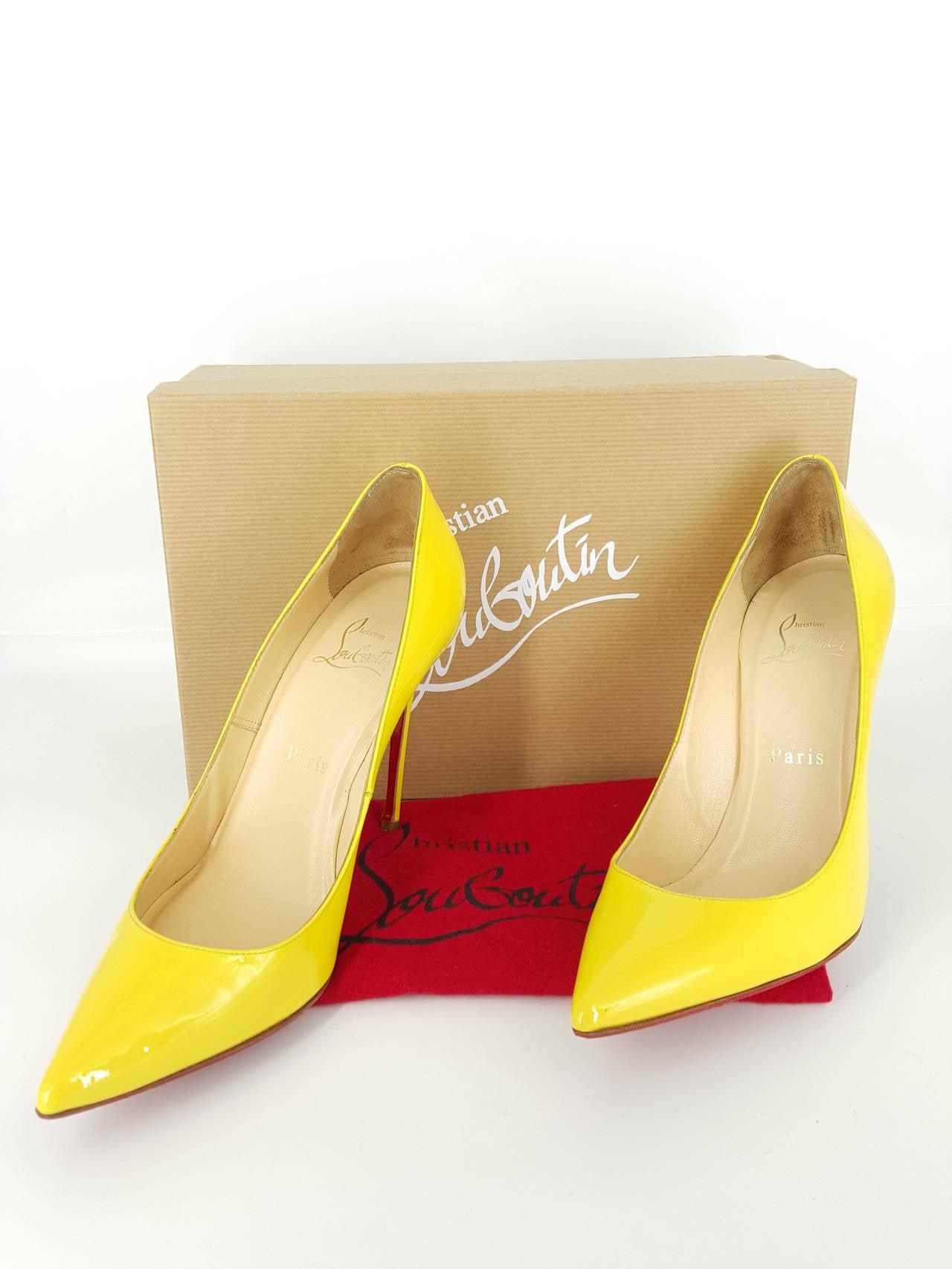 Christian Louboutin Bright Yellow High Heel Pumps Size 38 5