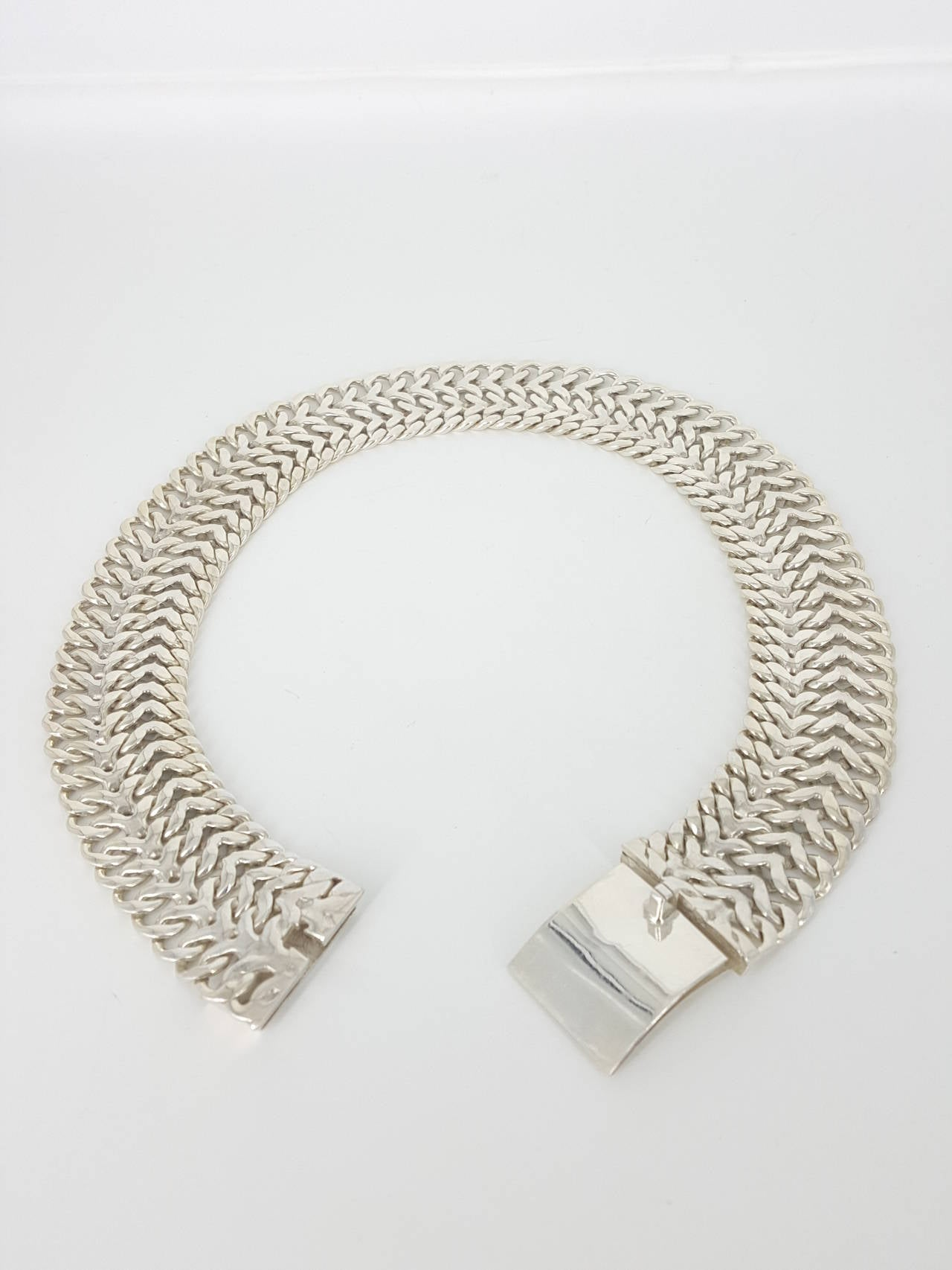 mens x link necklace chain wide
