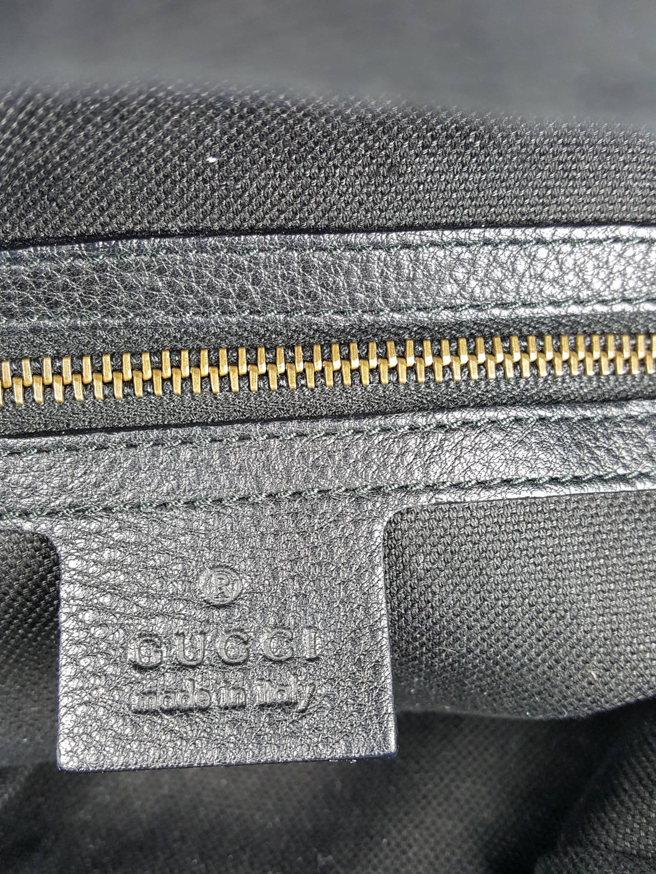 Gucci Black Leather