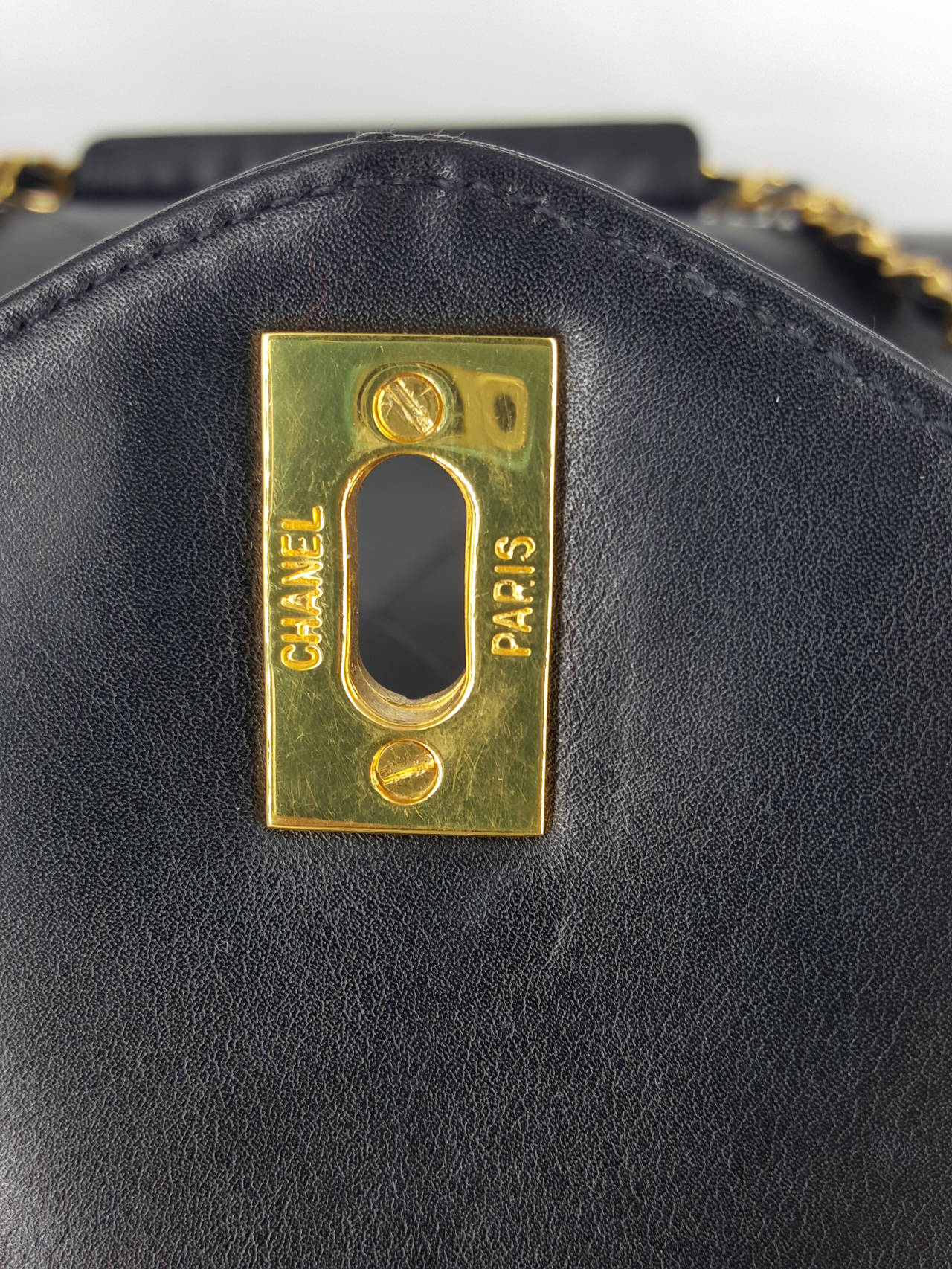 Chanel Black XL Jumbo Weekender Overnighter With Gold Hardware. For Sale 4