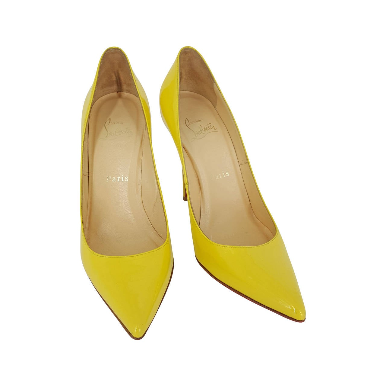 Christian Louboutin Bright Yellow High Heel Pumps Size 38 1