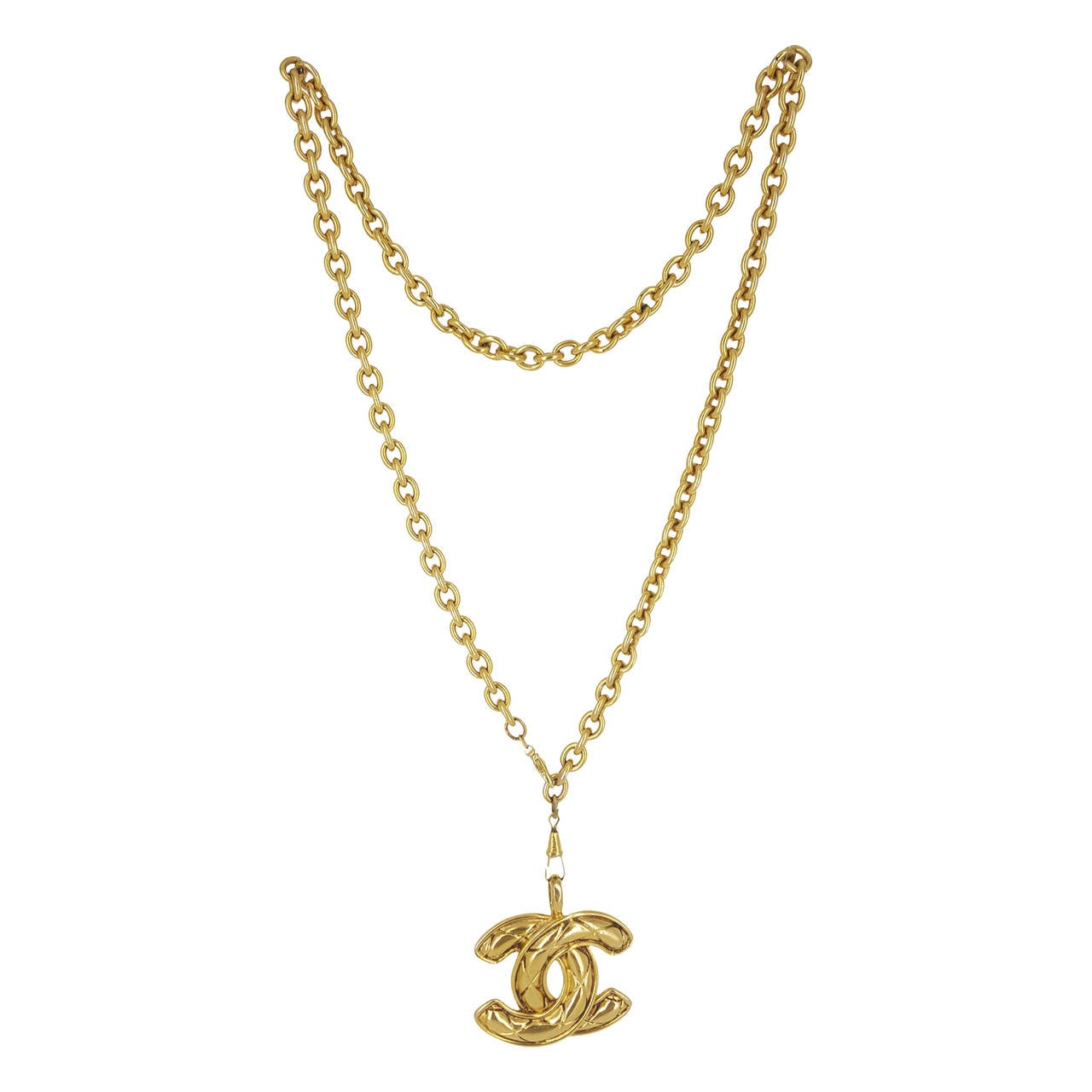 """Chanel Vintage Quilted """"cc"""" Necklace On Long Chain From. Chatham Sapphire. Nfpa 704 Diamond. 24 Karat Earrings. Brand Bands. Water Filter Diamond. Band With Diamonds. Elephant Stud Earrings. Garnet Engagement Rings"""