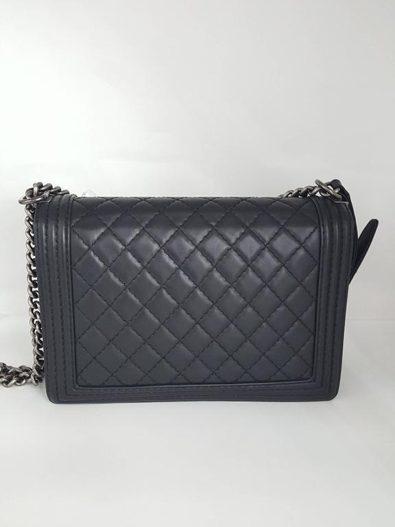51a8b9d83ab5 Chanel Boy Bag Black Silver Hardware | Stanford Center for ...