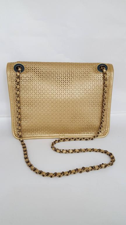 Chanel Rare Shoulder Flap Bag In Metallic Beige From the Dubai Collection 2