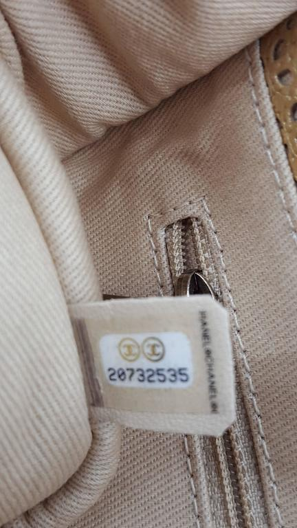Chanel Rare Shoulder Flap Bag In Metallic Beige From the Dubai Collection 6