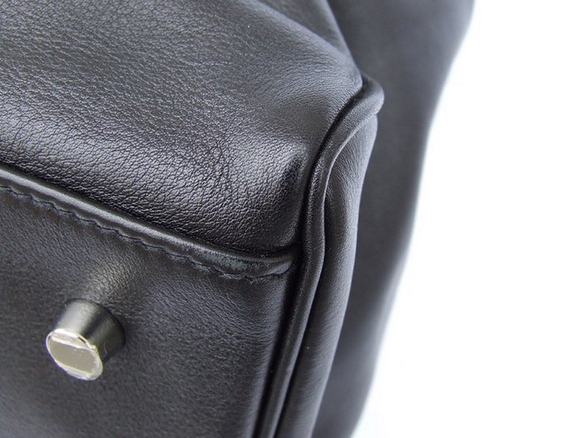Authentic Hermes Kelly Relax Handbag Travel Bag Noir Leather 50 cm ...