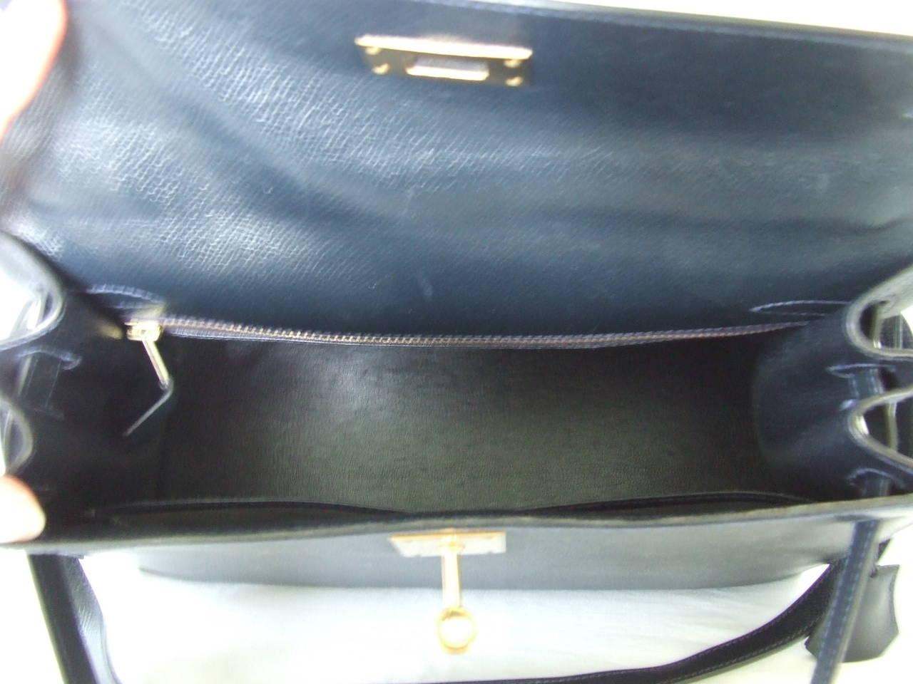 Authentic Hermes Kelly 28 Sellier Bag Epsom Bleu Gold Hardware For Sale 2 a04552925e