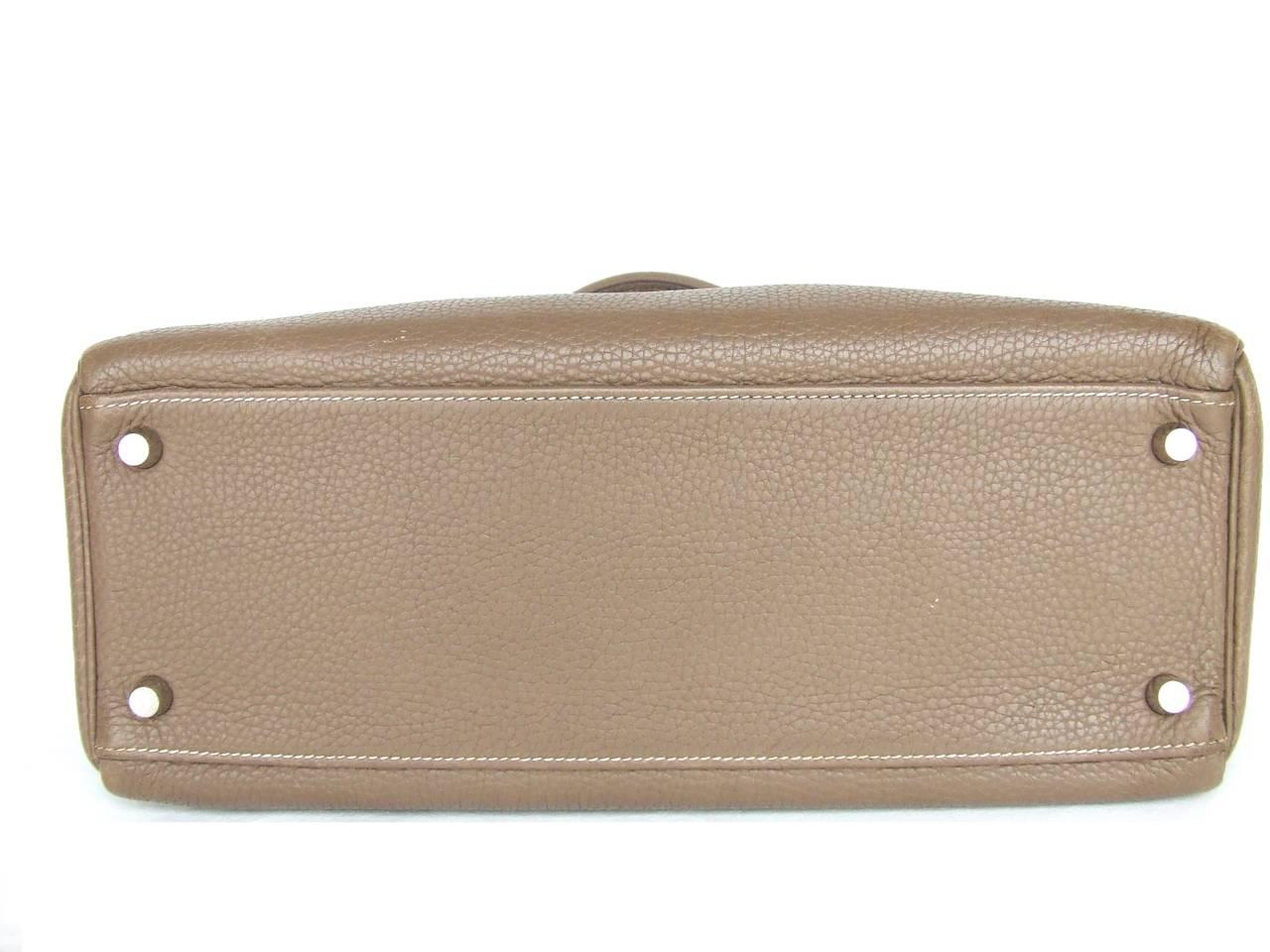 hermes crocodile birkin bag replica - Authentic Hermes Kelly 32 Bag Etoupe Togo Leather Silver Hardware ...