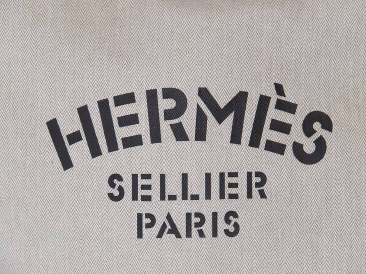 berkin bag price - Authentic Hermes Canvas Tote bag Canvas Leather at 1stdibs