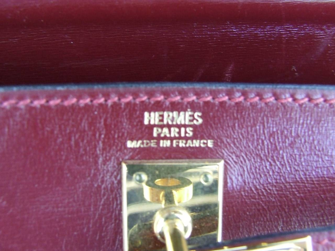Authentic Hermes Mini Kelly 20 Bag Sellier Rouge H at 1stdibs