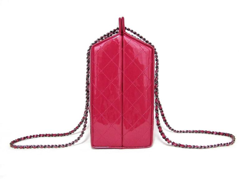 CHANEL Milk Bottle Bag Pink Patent Leather Limited Edition Full Set 5