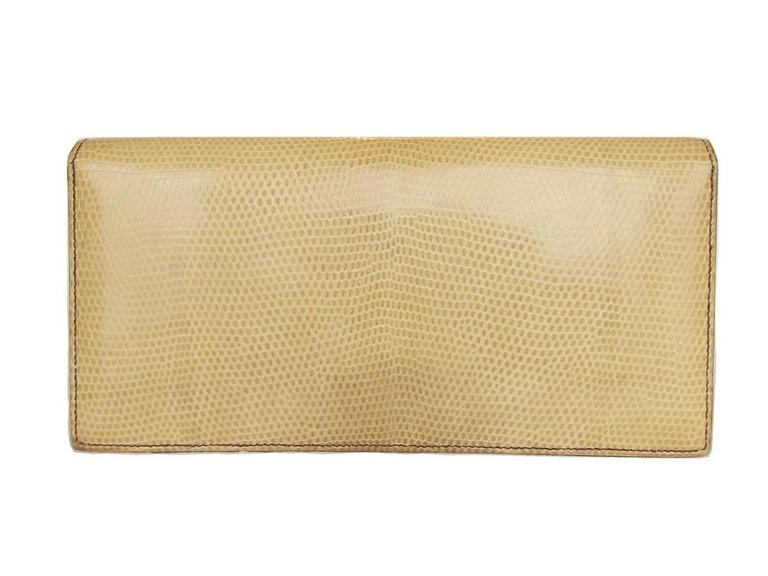 Hermes Faco Elan Clutch Purse Handbag Tri Color Lizard Skin + Mirror RARE 2