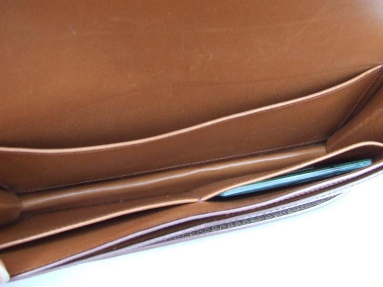 Hermes Faco Elan Clutch Purse Handbag Tri Color Lizard Skin + Mirror RARE 7