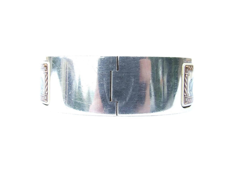 hermes clic clac enamel printed bracelet greyhounds size 60 at 1stdibs