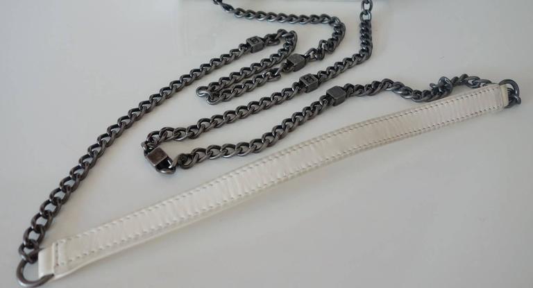 Chanel Boy Brick Lego Flap Bag White Leather 2 ways RARE 5
