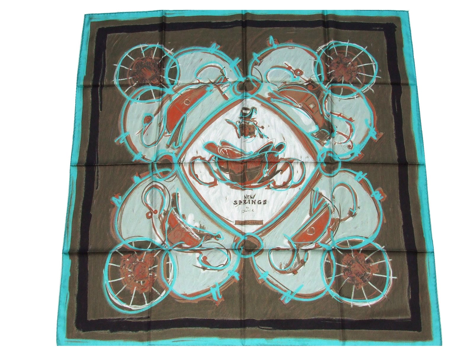 0a9d8acdd76a4 Hermes Silk Scarf New Springs Rybaltchenko 90 cm Matching Gigt Box For Sale  at 1stdibs