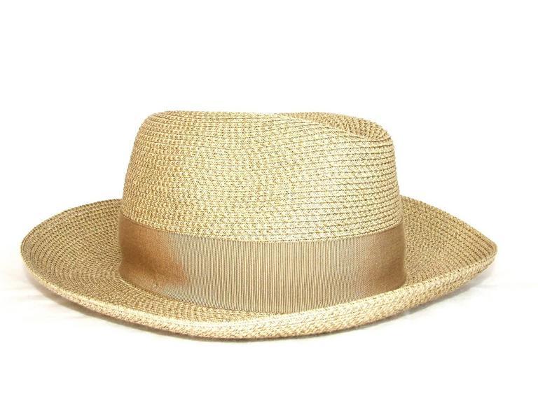 Hermes Sun Hat Panama Beige Size 57  2