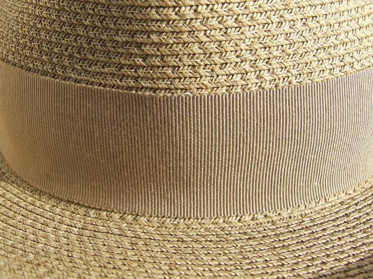 Hermes Sun Hat Panama Beige Size 57  3