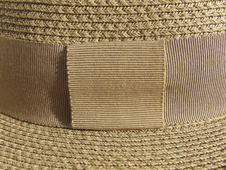 Hermes Sun Hat Panama Beige Size 57  4