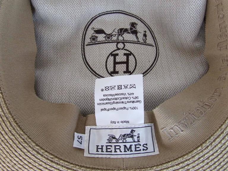 Hermes Sun Hat Panama Beige Size 57  5