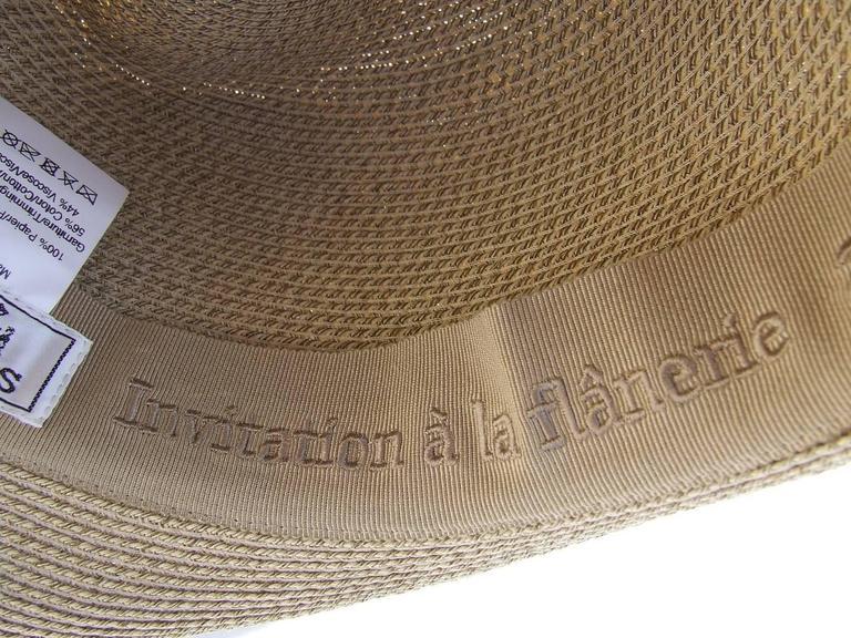 Hermes Sun Hat Panama Beige Size 57  6