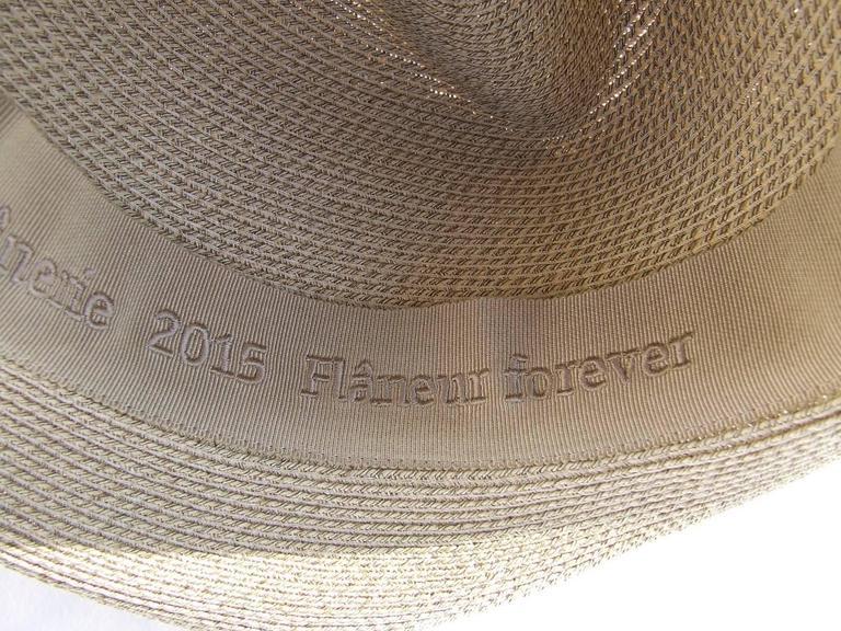 Hermes Sun Hat Panama Beige Size 57  7