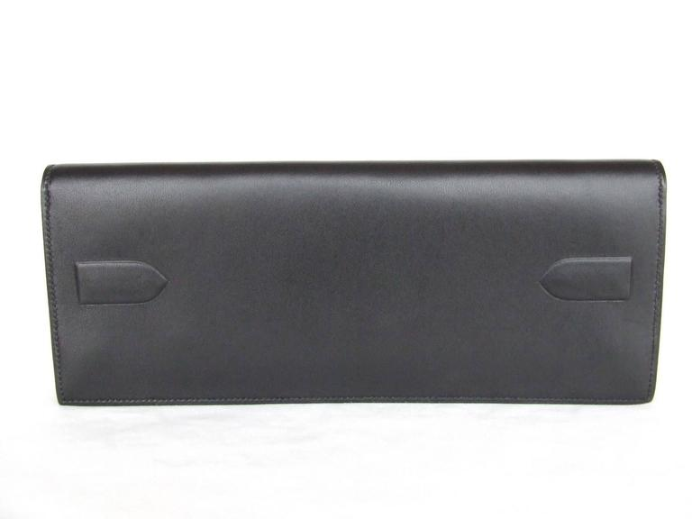 Rare Hermes Kelly Shadow Evercalf Long Pochette Clutch Handbag Wallet 2