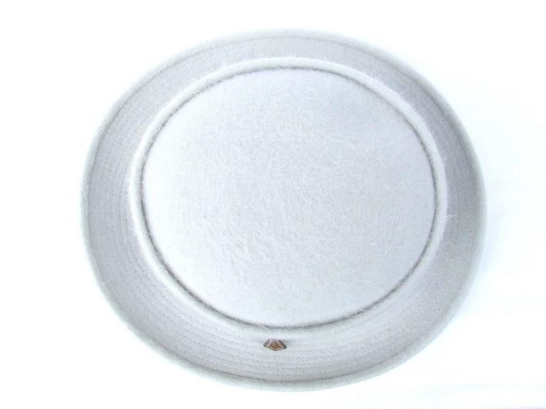 MOTSCH Paris For HERMES Felt Hat Light Grey Size 56 For Sale 1