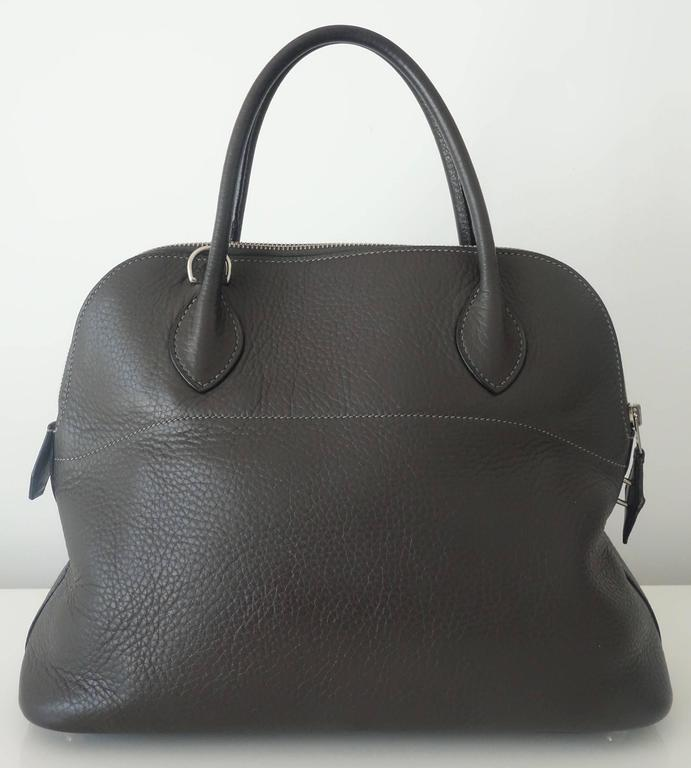Hermes Bolide Bag 2 ways Graphite Clemence Leather PHW 30 cm 2