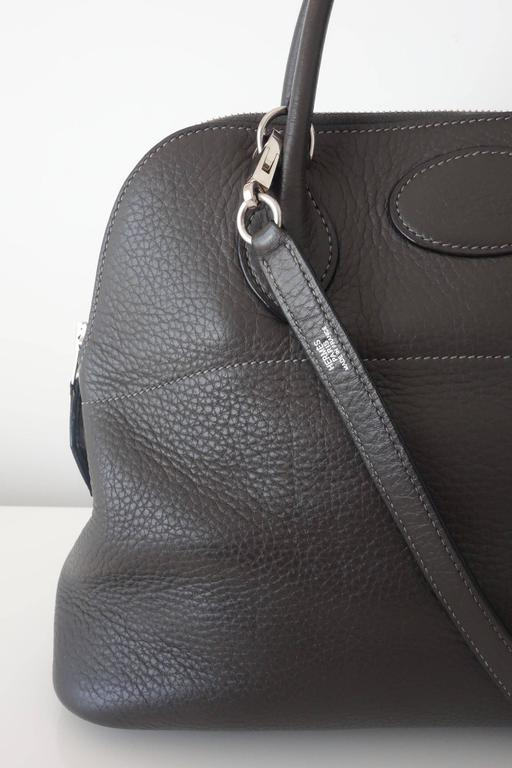 Hermes Bolide Bag 2 ways Graphite Clemence Leather PHW 30 cm 3