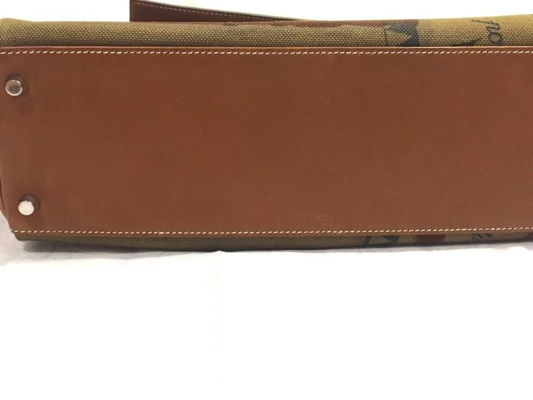 3e610f839016 Brown Rare Hermes Amazone Kelly Bag Barenia Horse Print Toile PHW 32 cm For  Sale