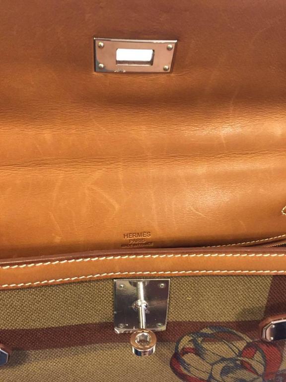 10d59cbb7e60 Women s Rare Hermes Amazone Kelly Bag Barenia Horse Print Toile PHW 32 cm  For Sale