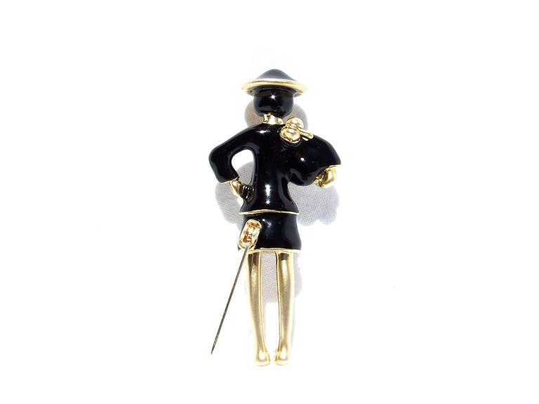 Women's CHANEL Pin Brooch Madame Coco Chanel with pearl In Dustbag For Sale