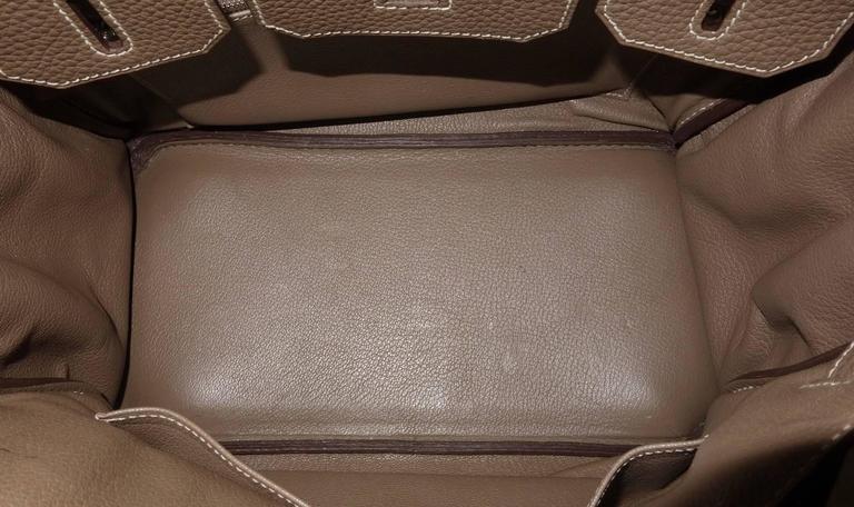 Hermes Birkin Handbag Etoupe Togo Leather PHW 30 cm 9