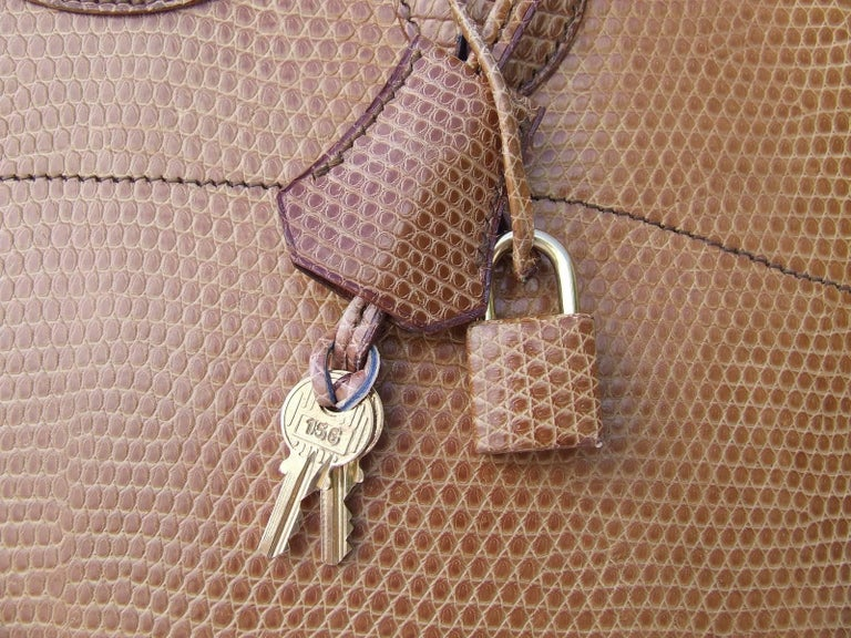 Hermes Bolide Bag 2 ways Beige Lizard Golden Hdw 31 cm With Strap 6