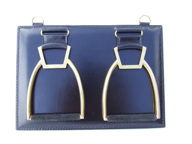 Rare HERMES Tie Hanger Tie Rack Rack 4 Stirrups Metal and Leather ...