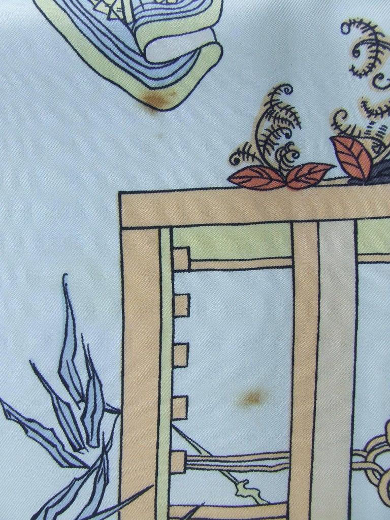 RARE Collector HERMES Vintage Silk Scarf Geisha Japan Françoise Heron 1966 89 cm For Sale 3