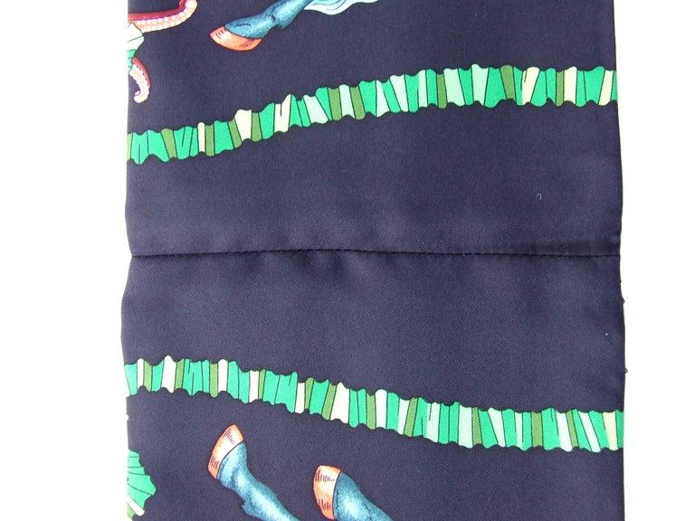 HERMES Long Silk Scarf Handmade Les Fetes du Roi Soleil Michel Duchene 1995 For Sale 4