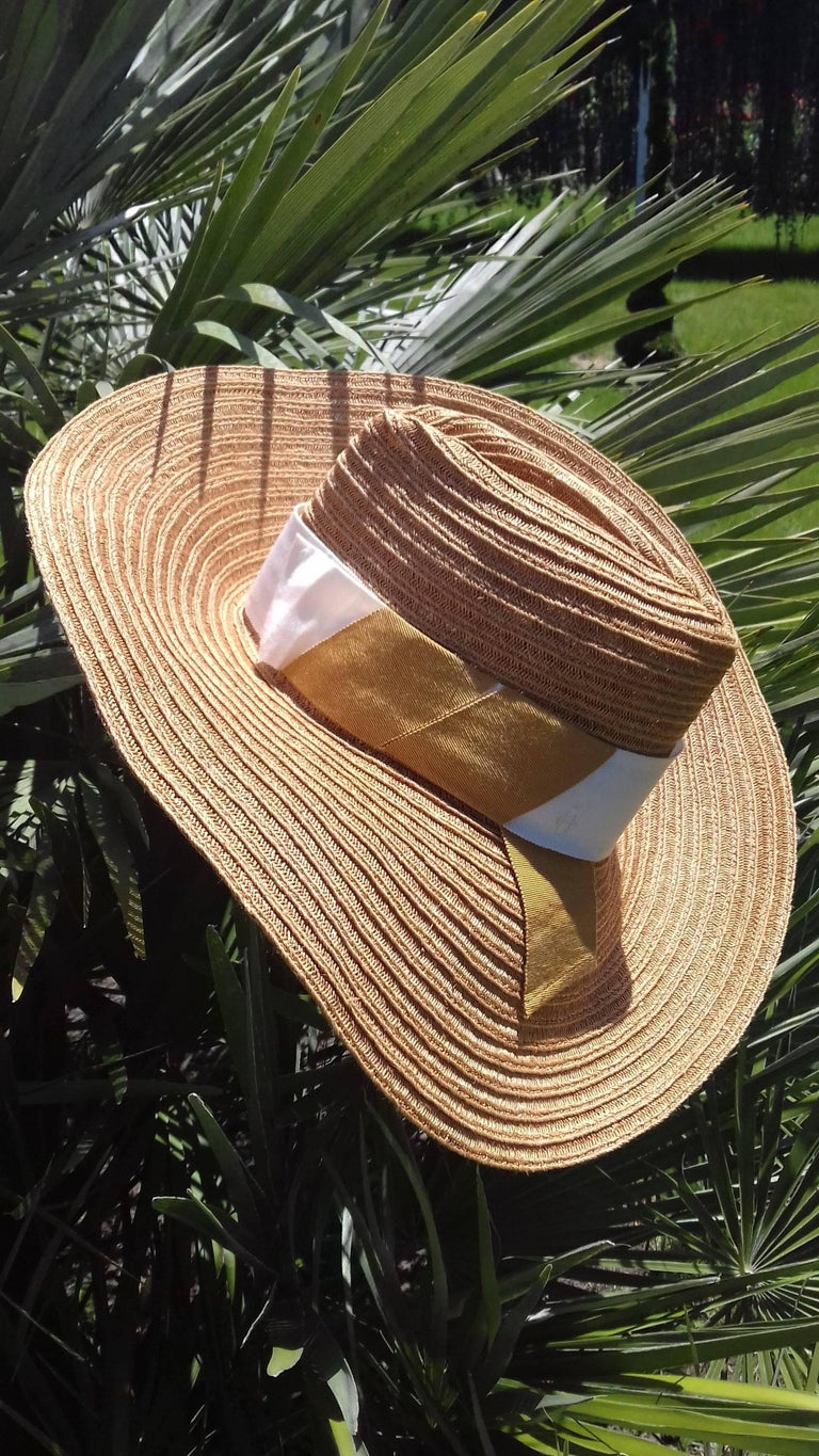 c48b99a6 Hermès Sun Hat Summer Hat Panama Hemp Size 56 For Sale at 1stdibs