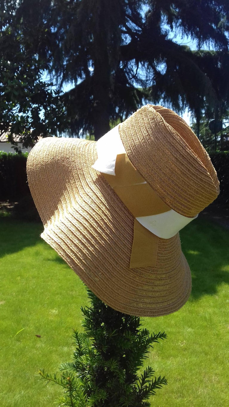 a509550c Hermès Sun Hat Summer Hat Panama Hemp Size 56 In New Condition For Sale In .