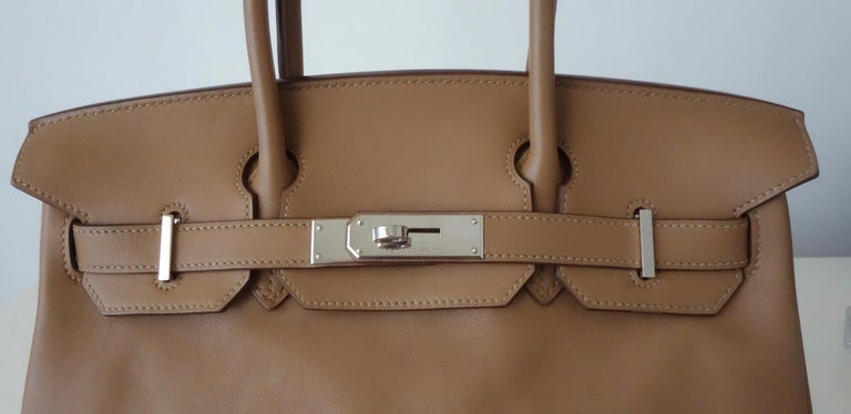 Women's Hermès Swift Leather Biscuit Phw 30 cm Birkin Bag
