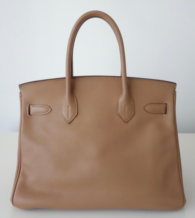 Hermès Swift Leather Biscuit Phw 30 cm Birkin Bag   1