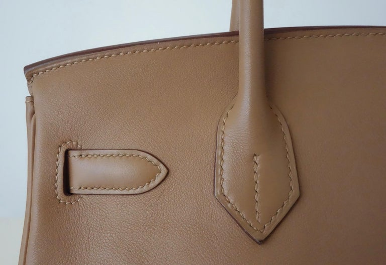 Hermès Swift Leather Biscuit Phw 30 cm Birkin Bag   4