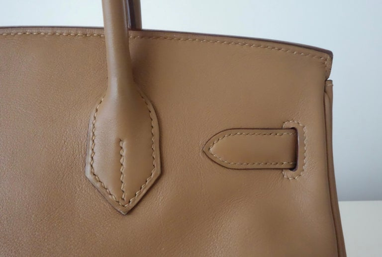 Hermès Swift Leather Biscuit Phw 30 cm Birkin Bag   5