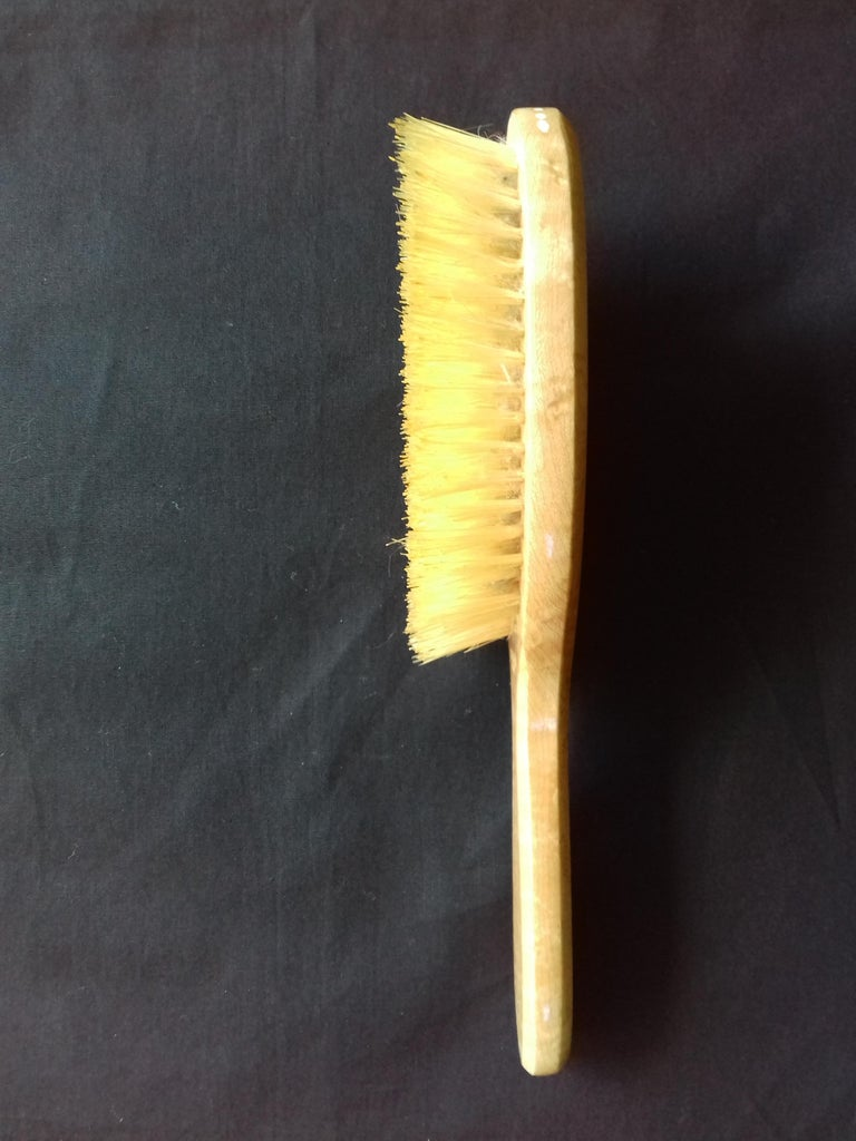 Women's Hermès Marquetry Lacquered Wood Hair Brush and Mirror Set  For Sale