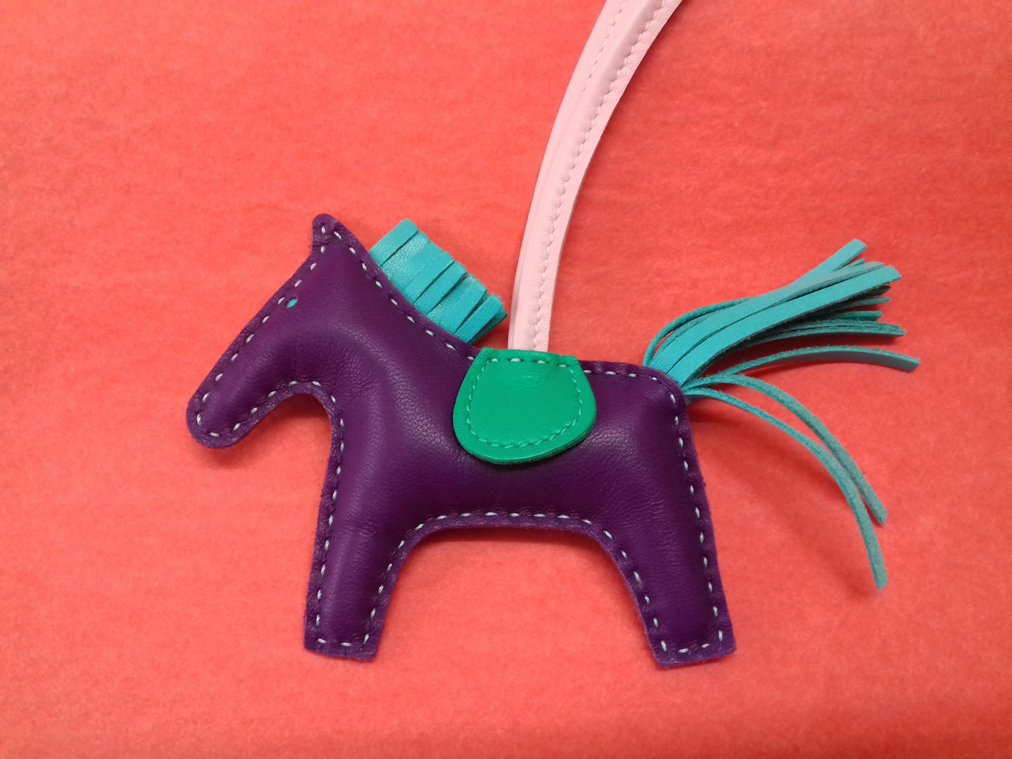 f5c5ff8ef2 Hermès Rodeo Grigri Horse Kelly Birkin Bag Charm 4 colorways Raisin PM RARE  at 1stdibs