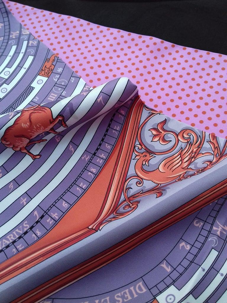 Hermès Silk Scarf Maxi Twilly Cut Astrologie Pois (Dies et Hore) Parma In Box For Sale 4