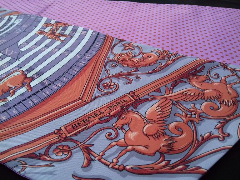 Hermès Silk Scarf Maxi Twilly Cut Astrologie Pois (Dies et Hore) Parma In Box For Sale 2