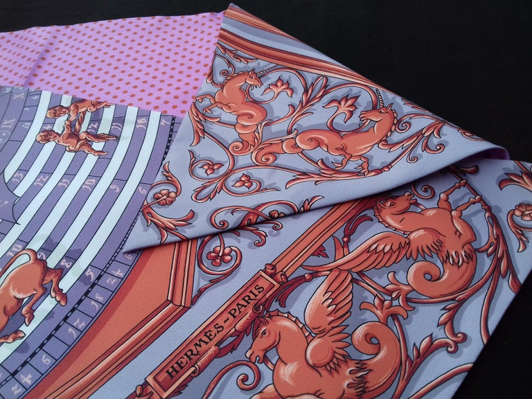 Hermès Silk Scarf Maxi Twilly Cut Astrologie Pois (Dies et Hore) Parma In Box For Sale 3
